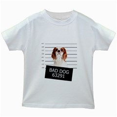 Bad dog Kids White T-Shirts