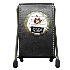 Bad dog Pen Holder Desk Clocks