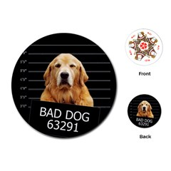 Bad dog Playing Cards (Round)