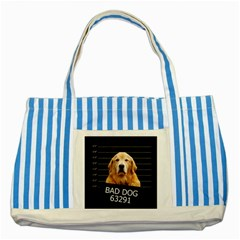Bad dog Striped Blue Tote Bag