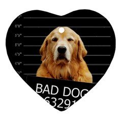 Bad dog Heart Ornament (Two Sides)
