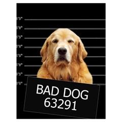 Bad dog Drawstring Bag (Large)