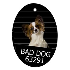 Bad dog Oval Ornament (Two Sides)