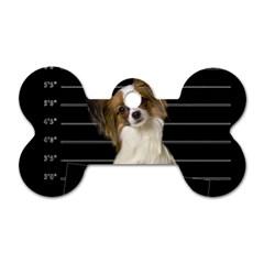 Bad dog Dog Tag Bone (One Side)