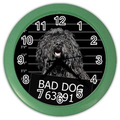 Bad dog Color Wall Clocks