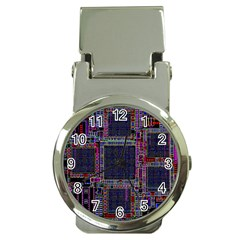 Cad Technology Circuit Board Layout Pattern Money Clip Watches