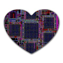 Cad Technology Circuit Board Layout Pattern Heart Mousepads
