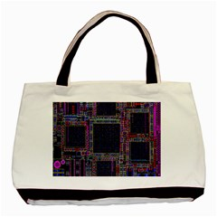 Cad Technology Circuit Board Layout Pattern Basic Tote Bag (Two Sides)