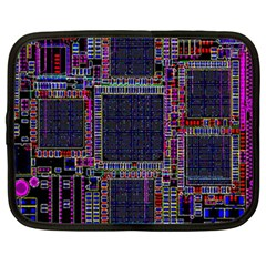 Cad Technology Circuit Board Layout Pattern Netbook Case (Large)