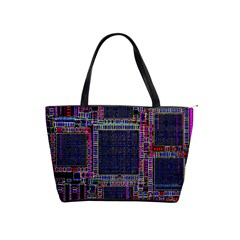 Cad Technology Circuit Board Layout Pattern Shoulder Handbags