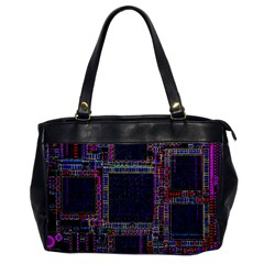 Cad Technology Circuit Board Layout Pattern Office Handbags