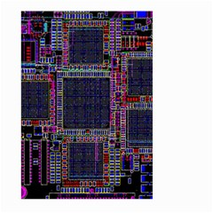 Cad Technology Circuit Board Layout Pattern Large Garden Flag (Two Sides)