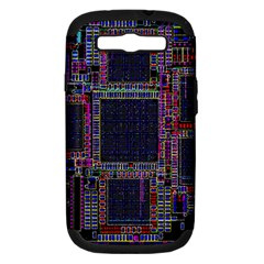 Cad Technology Circuit Board Layout Pattern Samsung Galaxy S III Hardshell Case (PC+Silicone)