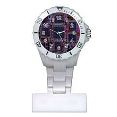 Cad Technology Circuit Board Layout Pattern Plastic Nurses Watch