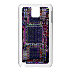 Cad Technology Circuit Board Layout Pattern Samsung Galaxy Note 3 N9005 Case (White)