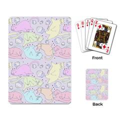 Cat Animal Pet Pattern Playing Card