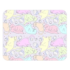 Cat Animal Pet Pattern Double Sided Flano Blanket (Large)