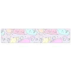 Cat Animal Pet Pattern Flano Scarf (Small)