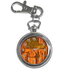 Circuit Board Pattern Key Chain Watches