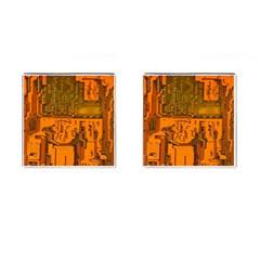 Circuit Board Pattern Cufflinks (Square)