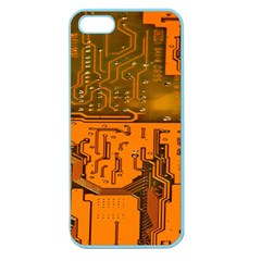 Circuit Board Pattern Apple Seamless iPhone 5 Case (Color)