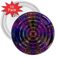 Color In The Round 3  Buttons (10 pack)