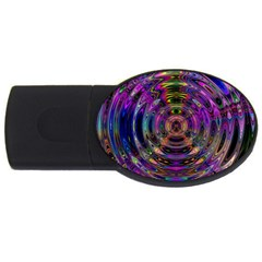 Color In The Round USB Flash Drive Oval (4 GB)