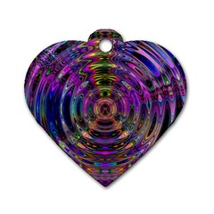 Color In The Round Dog Tag Heart (One Side)