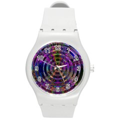Color In The Round Round Plastic Sport Watch (M)