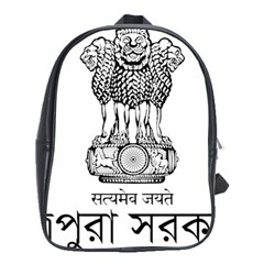 Seal Of Indian State Of Tripura School Bags(large)