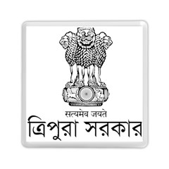 Seal Of Indian State Of Tripura Memory Card Reader (square)