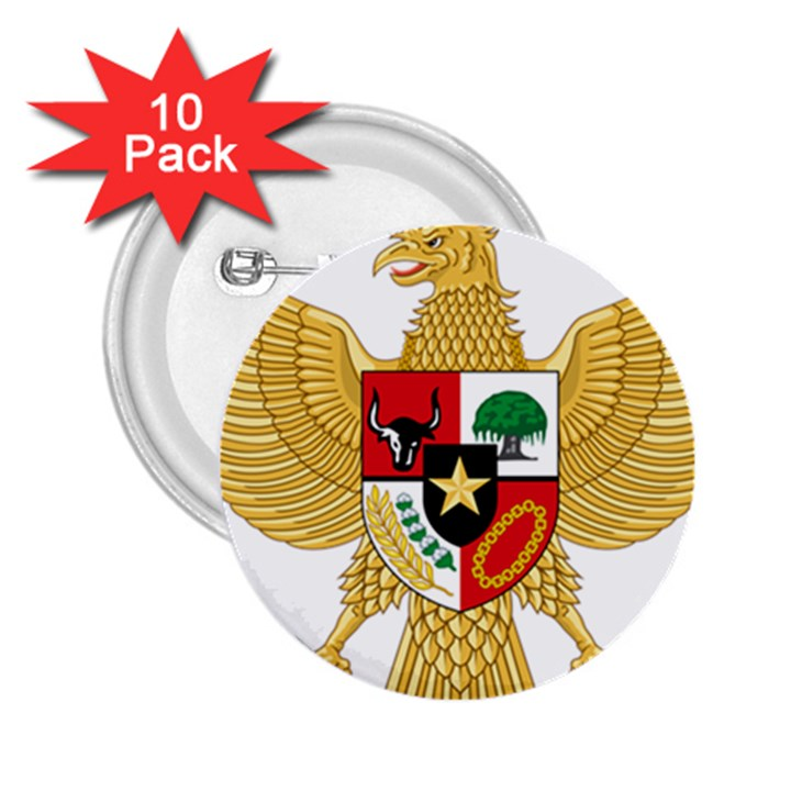 National Emblem of Indonesia  2.25  Buttons (10 pack)