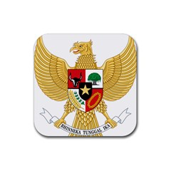National Emblem Of Indonesia  Rubber Coaster (square)
