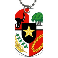 Shield Of National Emblem Of Indonesia  Dog Tag (two Sides)
