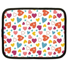 Colorful Bright Hearts Pattern Netbook Case (xl)