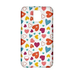 Colorful Bright Hearts Pattern Samsung Galaxy S5 Hardshell Case
