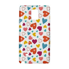Colorful Bright Hearts Pattern Samsung Galaxy Note 4 Hardshell Case