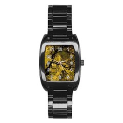 Colorful The Beautiful Of Traditional Art Indonesian Batik Pattern Stainless Steel Barrel Watch