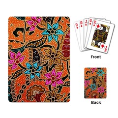 Colorful The Beautiful Of Art Indonesian Batik Pattern Playing Card