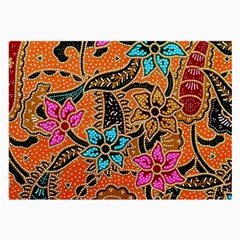 Colorful The Beautiful Of Art Indonesian Batik Pattern Large Glasses Cloth (2-Side)