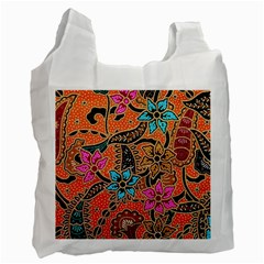 Colorful The Beautiful Of Art Indonesian Batik Pattern Recycle Bag (One Side)