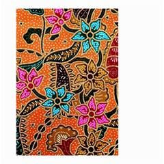 Colorful The Beautiful Of Art Indonesian Batik Pattern Small Garden Flag (Two Sides)