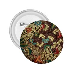 Colorful The Beautiful Of Art Indonesian Batik Pattern 2.25  Buttons