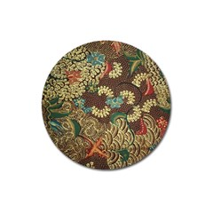 Colorful The Beautiful Of Art Indonesian Batik Pattern Magnet 3  (Round)