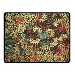 Colorful The Beautiful Of Art Indonesian Batik Pattern Fleece Blanket (Small)