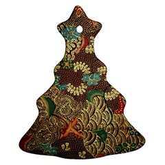 Colorful The Beautiful Of Art Indonesian Batik Pattern Christmas Tree Ornament (Two Sides)