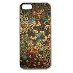 Colorful The Beautiful Of Art Indonesian Batik Pattern Apple Seamless iPhone 5 Case (Clear)