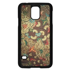 Colorful The Beautiful Of Art Indonesian Batik Pattern Samsung Galaxy S5 Case (Black)