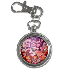 Colorful Art Traditional Batik Pattern Key Chain Watches