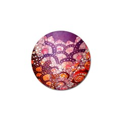 Colorful Art Traditional Batik Pattern Golf Ball Marker (10 pack)